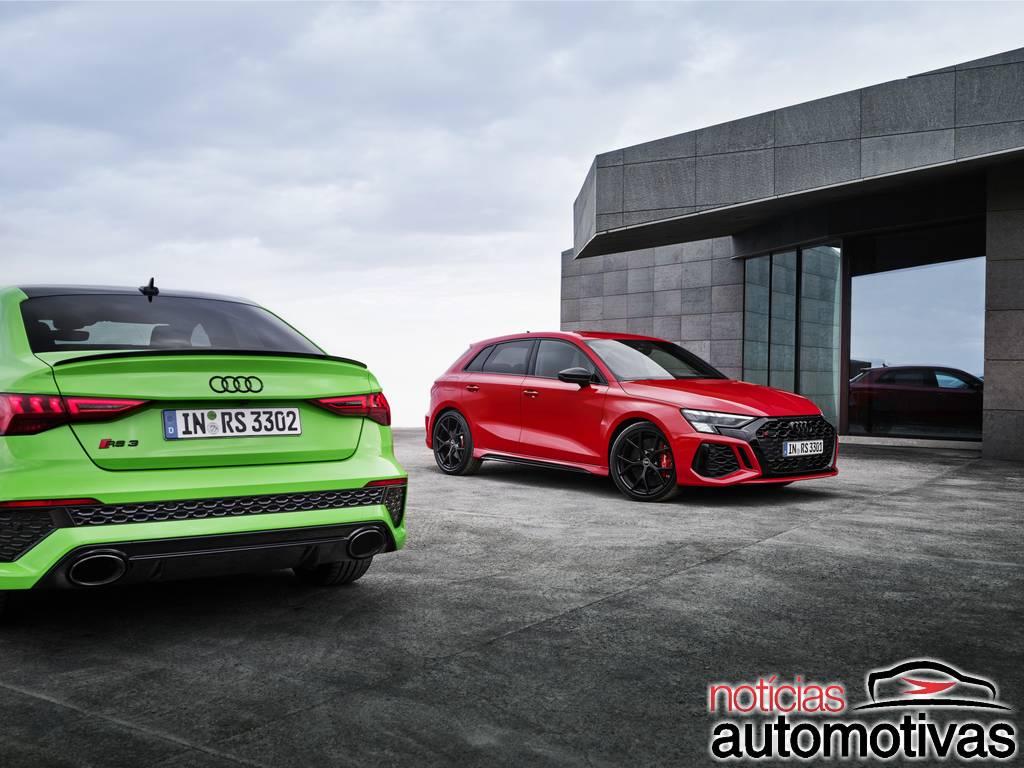 Audi RS3 2022 tem sedã e hatch chega com 400 cavalos