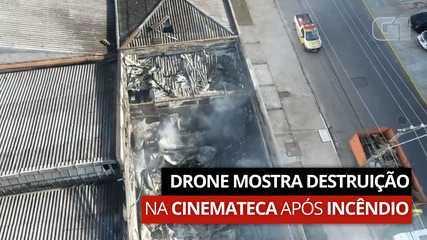 VÍDEO: Drone mostra destruição na Cinemateca após incêndio